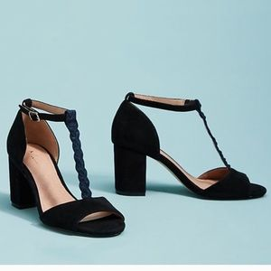 NWT Anthropologie Kelsey T strap sandals